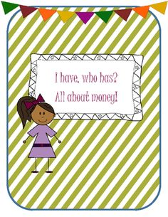 I have, who has? All about money from SUPER SECONDS on TeachersNotebook.com -  (8 pages)  - I have, who has? All about money game.