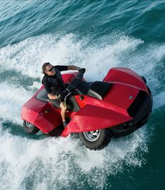 The QuadSki , it's a Jet ski AND a quad ATV. Doesn't that look like fun.