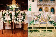 Idea para decorar la mesa de los novios en la boda #bodas #ElBlogdeMaríaJosé…