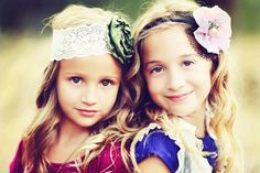 flowers in their hair for the kids. Like these headbands and the colorful outfits with mismatched color headbands!