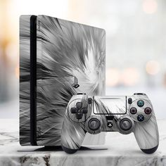 skin Feathers skin white pattern skin black texture skin watercolor Slim Decal P Money Wallpaper Iphone, Computer Wallpaper, Ps4 Game Console, Playstation Consoles, Ps4 Skins, Ps4 Controller, Purple Aesthetic, Laptop Decal, Cute Gif
