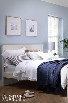 Blue Bedroom Decor, Master Bedroom Interior, Bedroom Decor For Teen Girls, Bedroom Wall Colors, Bedroom Color Schemes, Room Ideas Bedroom, Dream Bedroom, Home Bedroom, Cheap Bedroom Furniture Sets
