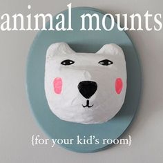 Creative Ways To Mount Animal Heads for Your Kid's Room