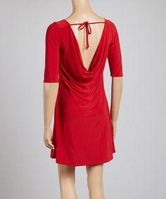 Star Vixen Red Tie-Back Shift Dress by Star Vixen #zulily #zulilyfinds