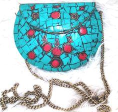 Clucth Metal Mosaico Turquesa - Santa Boutique