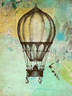hot air balloon painting whimsical - Google Search