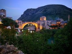 An Evening in the Old Town of Mostar