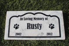 Sandblast Engraved Marble Pet Memorial Headstone Grave Marker Dog Cat bordr 6x12 -- Visit the image link more details. (This is an affiliate link and I receive a commission for the sales)