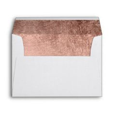 Luxury faux rose gold leaf wedding envelope
