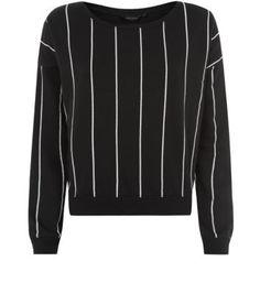 Black Pinstripe Sweater