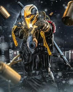 DC Comic Book Artwork • Deathstroke. Follow us for more awesome comic art, or check out our online store www.7ate9comics.com