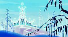 外から見た氷の城