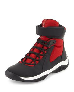 8bde18aa67e America s Cup High-Top Sneaker Black High Top Sneakers
