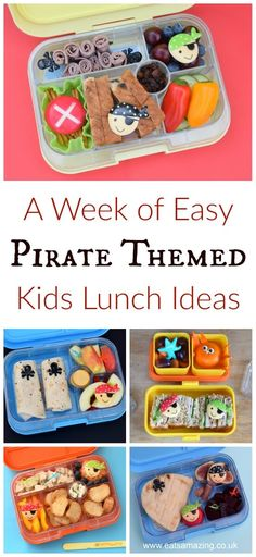 A week of fun pirate themed lunches for kids - healthy and easy packed lunch…