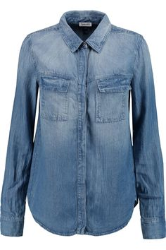 Shop on-sale Splendid Wilder washed-chambray shirt. Browse other discount designer Tops & more on The Most Fashionable Fashion Outlet, THE OUTNET.COM