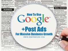 How to Use #Google +Post Ads For Massive #Business Growth