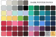 Dark winter palette... I'm a blend of winter and autumn. Bold deep colors look best!