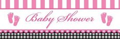 Creative Converting Sweet Baby Feet Pink Giant Baby Shower Banner * For more information, visit image link.