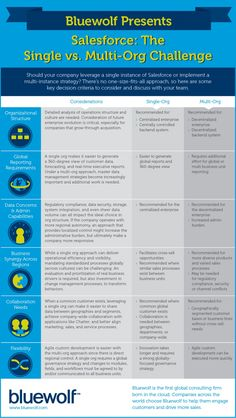 Bluewolf | Salesforce: The Single vs. Multi-Org Challenge