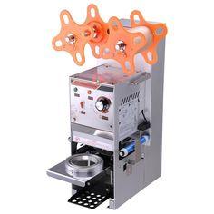 Commercial Bubble Tea Cafe Coffee Shop Plastic Cup Sealer Sealing Roller Machine…