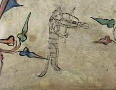 This cat has had it RIGHT UP TO HERE with this stringed instrument. | 44 Medieval Beasts That Cannot Even Handle It Right Now