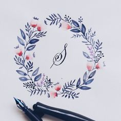 Grafikas.com - calligraphy and beautiful watercolor wreaths