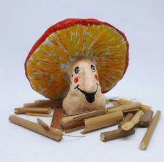Crafts For Kids, Diy Crafts, Paper Crafting, Tweety, Stuffed Mushrooms, Teddy Bear, Clay, Halloween, Animals