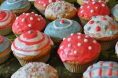 bunte Muffins für Kinder zum Geburtstag