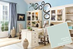 Spring 2017 paint colors from the Ballard Designs catalog Save to think about how to tone down the blue bathroom