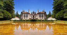 https://flic.kr/p/aH7cye | Reflexos-Reflections | Palacio de Mateus, Vila Real Portugal. This is a composite image of the palace, in reality the right wing of the palace is obscured by very large cedars so only the left wing is visible from this location.