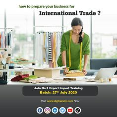 Prepare and grow your business for foreign trade !!  Join Batch of 27th July. You are only few steps away now. Call 9505506333 and Grab Best offers  #eximtraining #exporttraining #livetraining #trade #globaltrade #DigitalExim #exportimport #import #export #importer #exporter #incoterms #clearingandforwarding #foreigntrade #globalbusiness #business #cargo #port #trade #transportation #freightforwarding #entrepreneur #exportquality #exporting  #internationalmarketing  www.digitalexim.com Business Requirements, Global Business, Growing Your Business, Digital Marketing, Transportation, Entrepreneur, Join, Training, Work Outs