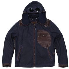 C.P. Company Waxed Cotton & Leather Goggle Jacket