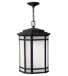 Hinkley Lighting Cherry Creek 1 Light GU24 CFL Outdoor Hanging in Vintage Black 1272VK-GU24