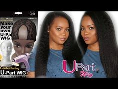HOW TO CREATE A NATURAL HOT GLUE INVISIBLE PART UPART WIG USING UPART CAP ft Vishine Hair - YouTube