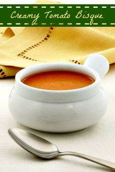 Creamy Tomato Bisque - a grown up version of a childhood favorite - The Wilderness Wife - www.wildernesswife.com  #recipes #tomato #soup