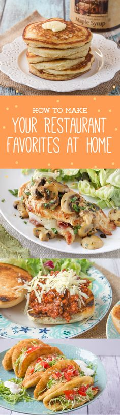Why dine out when you can eat your favorites at home?Check out these recipes for popular restaurant eats ranging from Cheesecake Factory Shrimp Scampi to IHOP Buttermilk Pancakes.