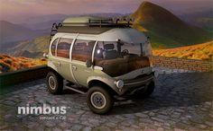Eco-Friendly Electric SUV: Retro-Futuristic Off-Roading  I want this