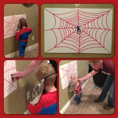Maybe color Spider-mans and stick them on the giant web?