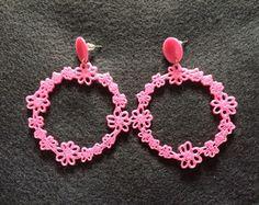 Maxi Brinco Floral Guirlanda*** Peças personalizáveis, feitas através de impressora 3D #bijuterias