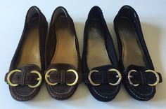 COACH Cadet Suede Womens Loafers Shoes Lot of 2 Pair Black Brown Size 8.5M #Coach #LoafersMoccasins #Casual