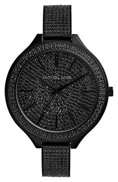 MICHAEL Michael Kors Michael Kors 'Slim Runway' Pavé Crystal Bangle Watch, 43mm available at #Nordstrom