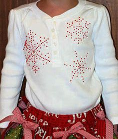 A Couple of Craft Addicts: Puffy Paint Snowflake Shirt