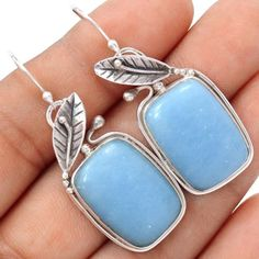 14g angelite #floral 925 #sterling #silver earrings jewelry se112973,  View more on the LINK: http://www.zeppy.io/product/gb/2/351959691411/