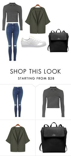 """""""outfit26"""" by matildegiorgi14 on Polyvore featuring moda, Topshop, WithChic, Kate Spade e adidas"""