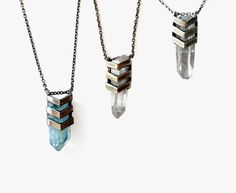chevron aura necklaces by TOMTOM JEWELRY