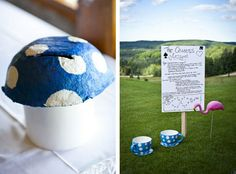 Meagan & Simon's Mad Hatter tea party wedding | Offbeat Bride  http://offbeatbride.com/2012/05/michigan-mad-hatter-wedding