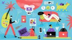 Digital nomad illustration by Ana Matsusaki
