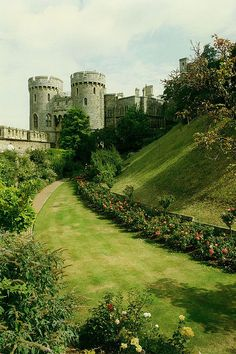 Moat and Norman Gate, Windsor Castle, England