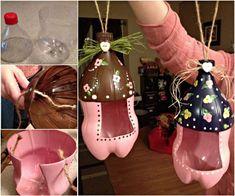 Plastic Bottle Bird Feeder #diy #craft #recycling