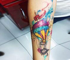 Balloon tattoo by Felipe Rodrigues